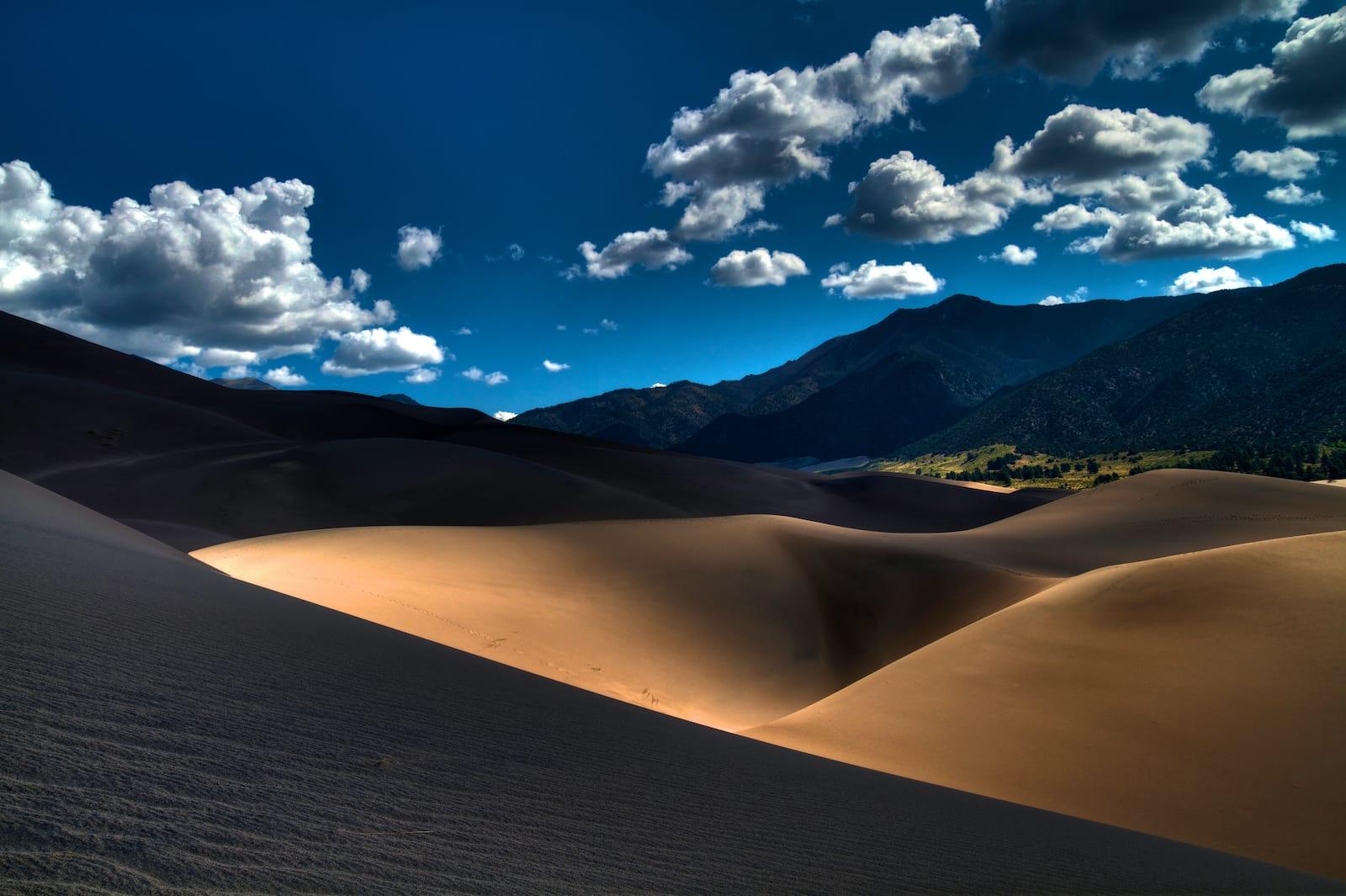 Great Sand Dunes Hiking near Alamosa CO