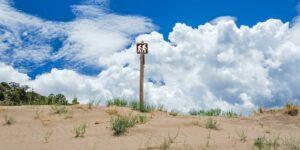 Great Sand Dunes Hiking Sign near Alamosa CO
