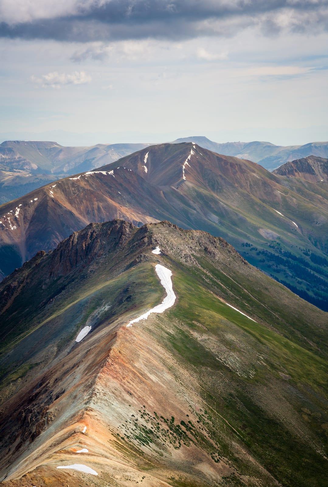 Handies Peak Hiking Summit Colorado