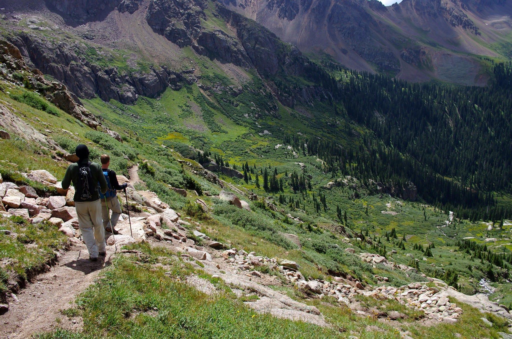 image of hiking chicago basin