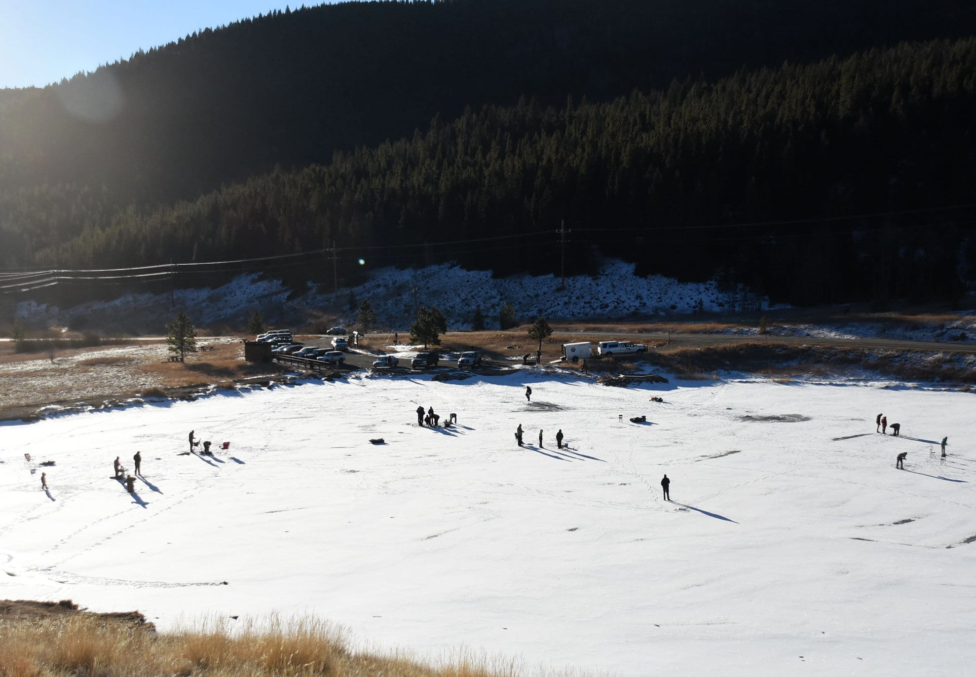 image of ice fishing in golden gate canyon state park