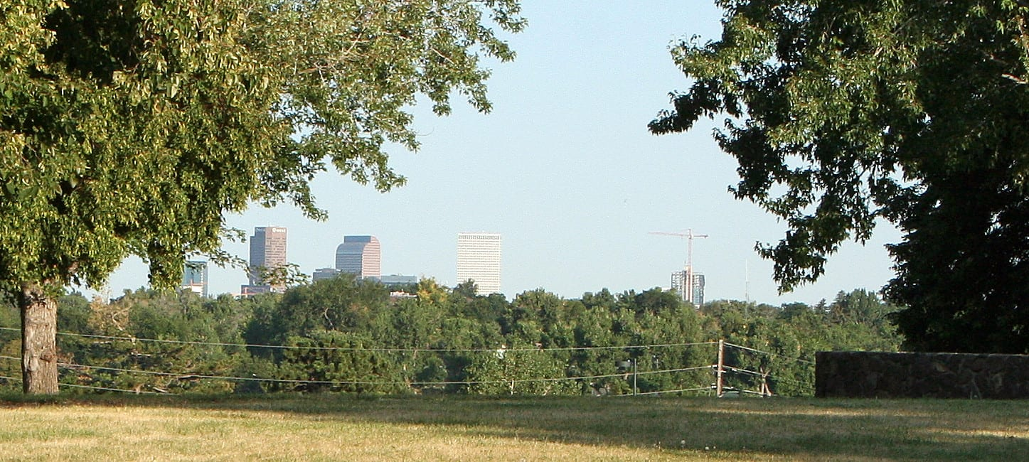 Image of the view of Denver from Inspiration Point Park
