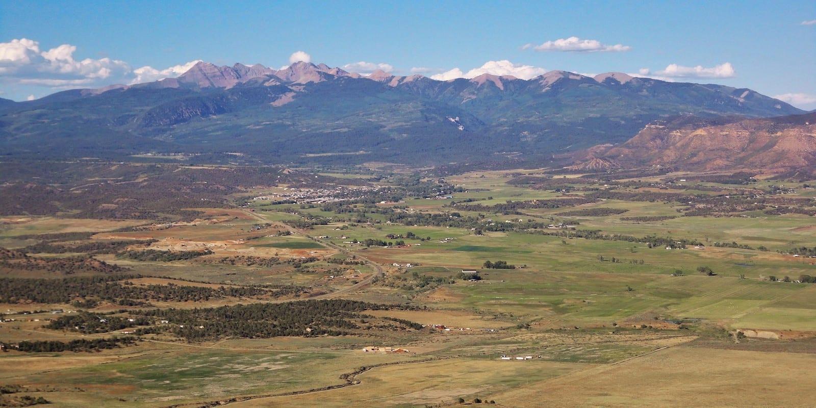 La Plata Mountains from Mesa Verde Colorado