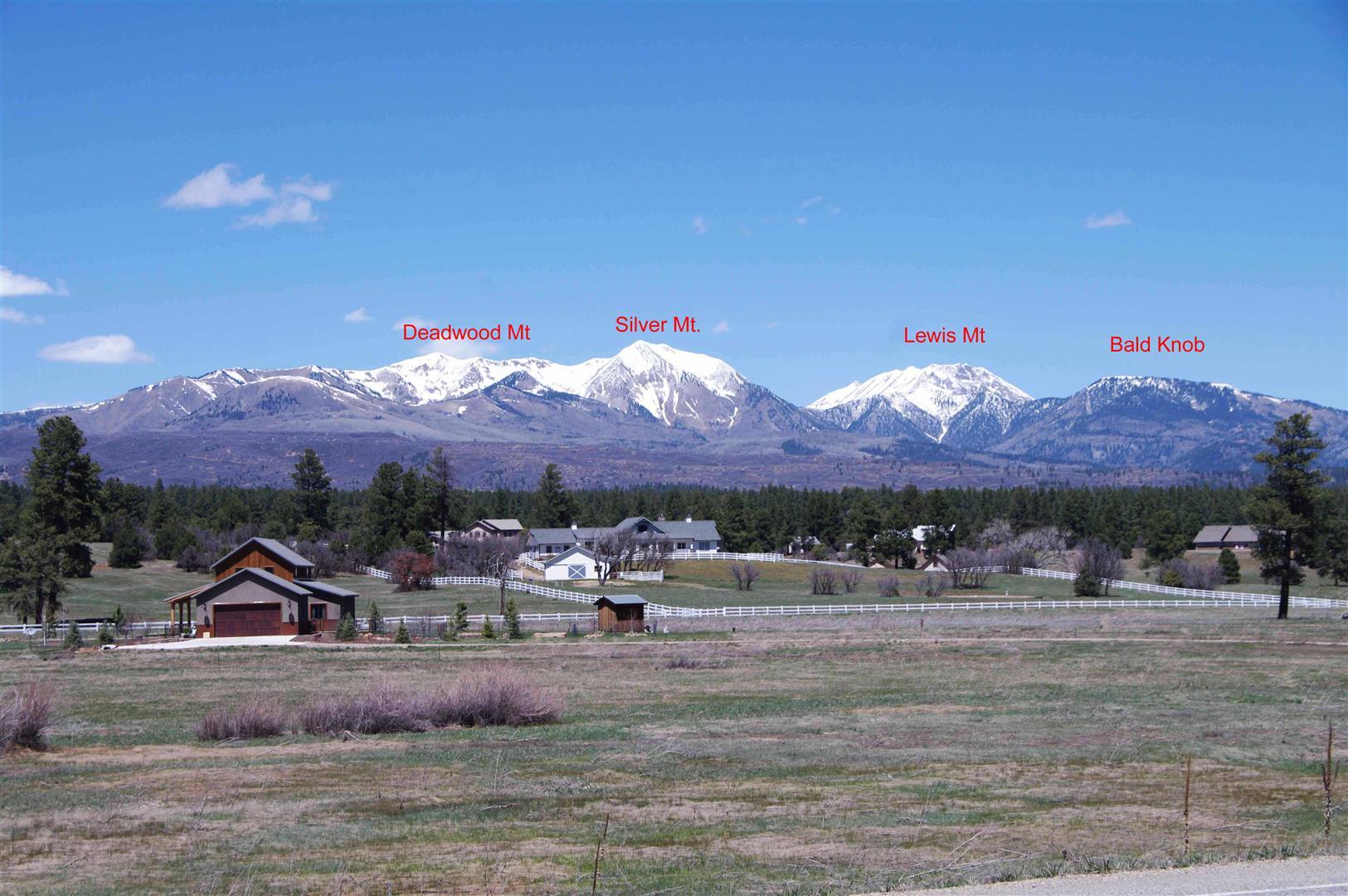 La Plata Mountain Peaks Labeled