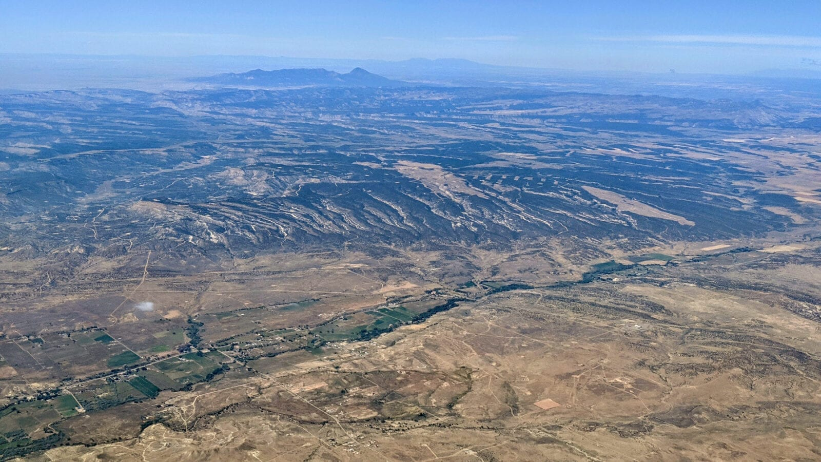 Aerial Image of the La Plata River in Colorado