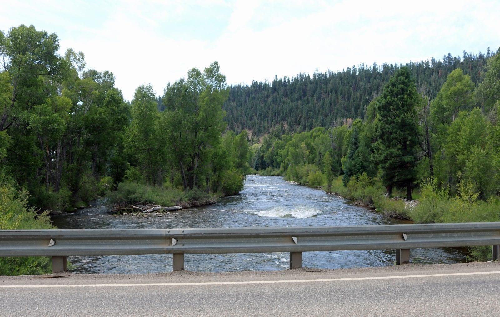 Image of the Los Pinos River in colorado