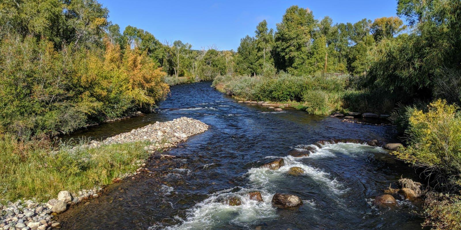 Image of the Los Pinos river looking north in Colorado