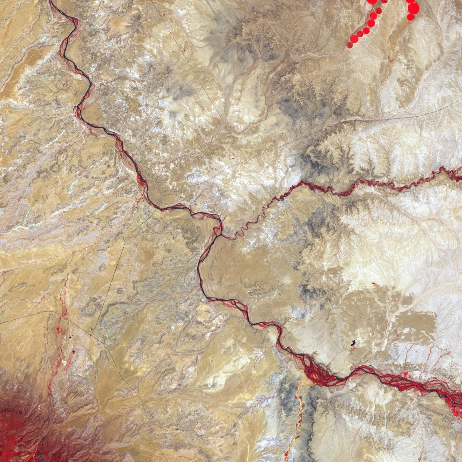 Image of the mancos river from a satellite