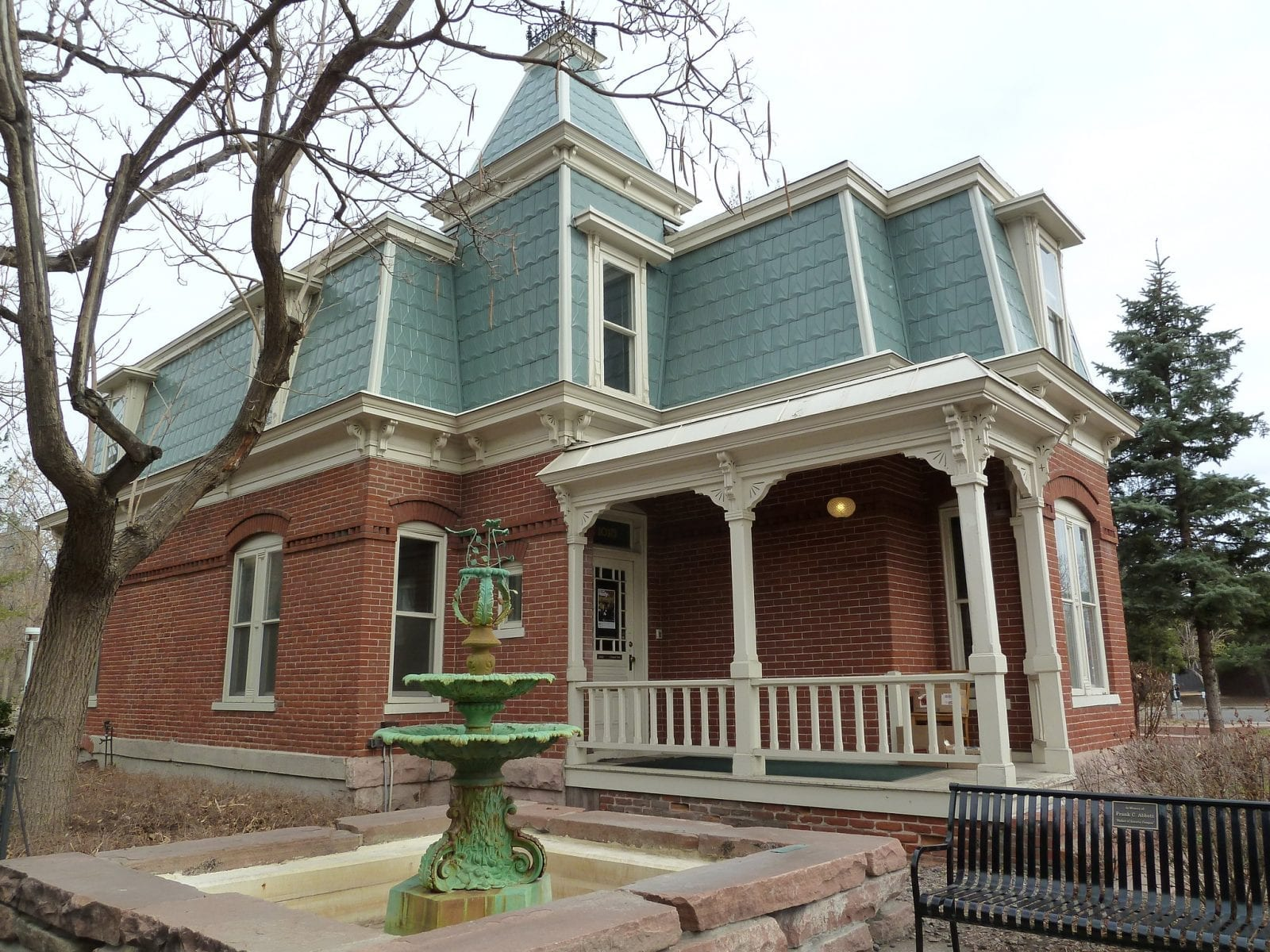 Image of one of the houses in the Ninth Street Historic Park in Denver, Colorado