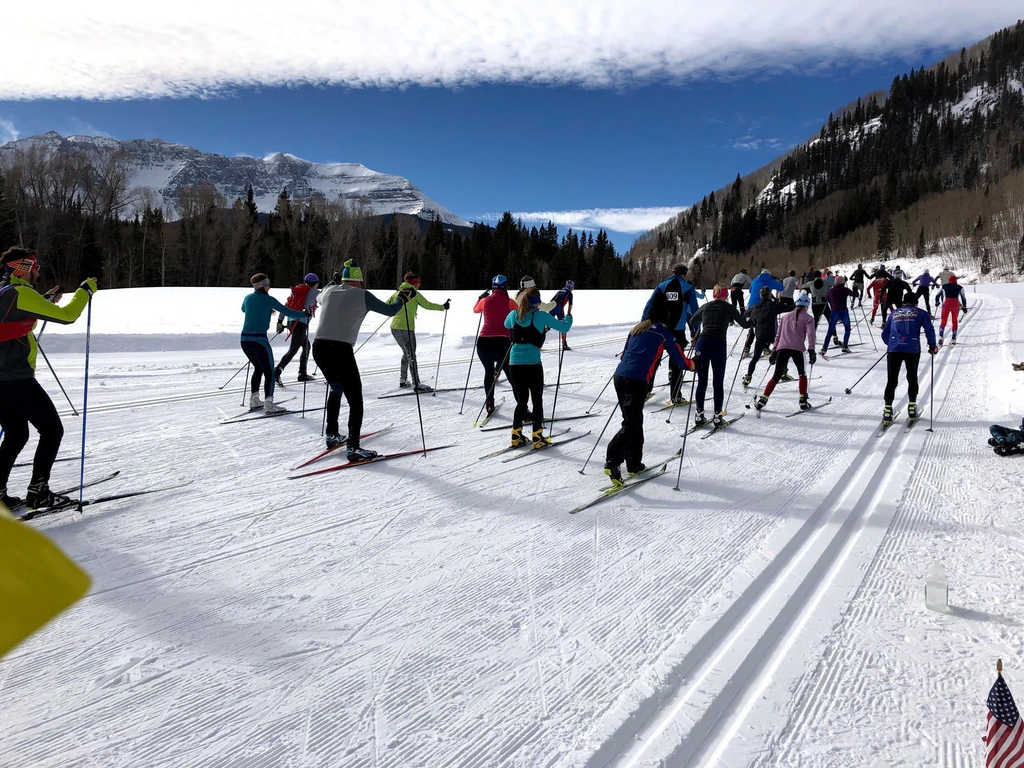 image of nordic skiing in telluride