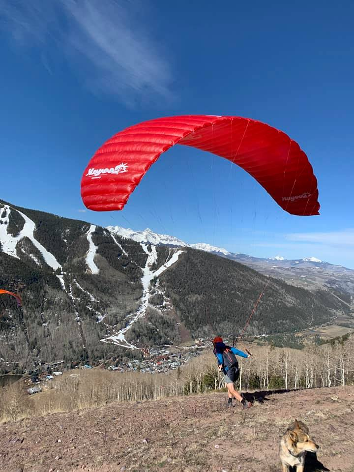image of paragliding in telluride
