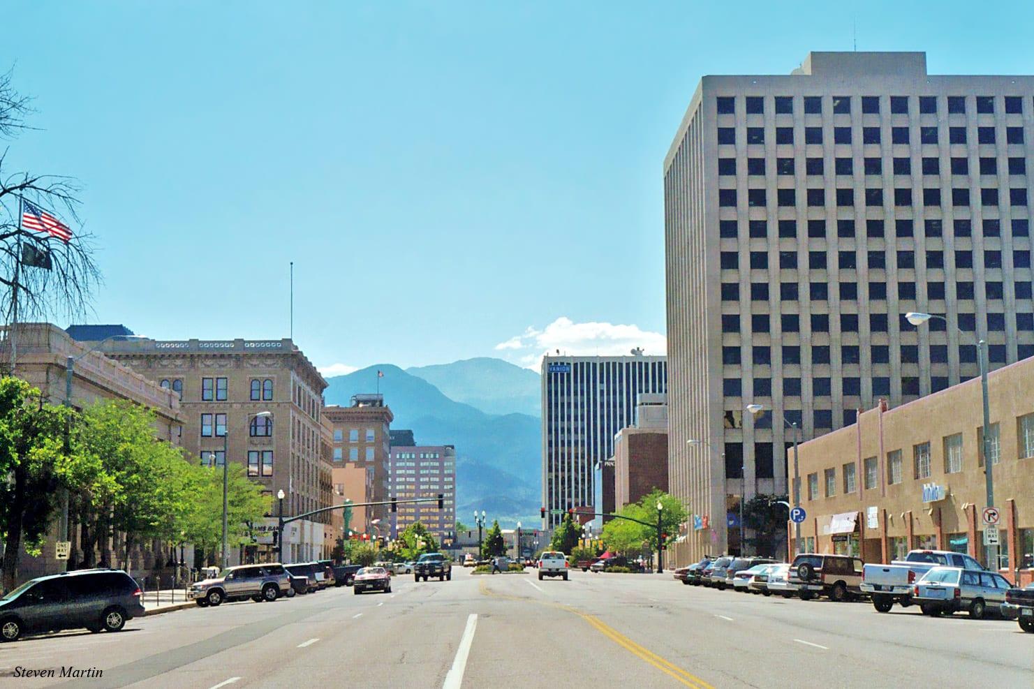 Pikes Peak Avenue Colorado Square Building Colorado Springs