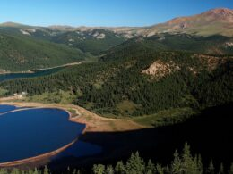 Image of the McReynolds and Mason Reservoirs in the Pikes Peak South Slope Recreation Area in Manitou Springs, Colorado