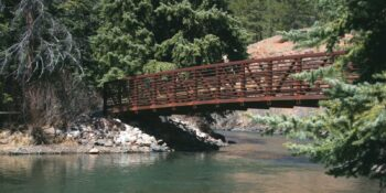 Footbridge in Pine Valley Ranch Park Colorado