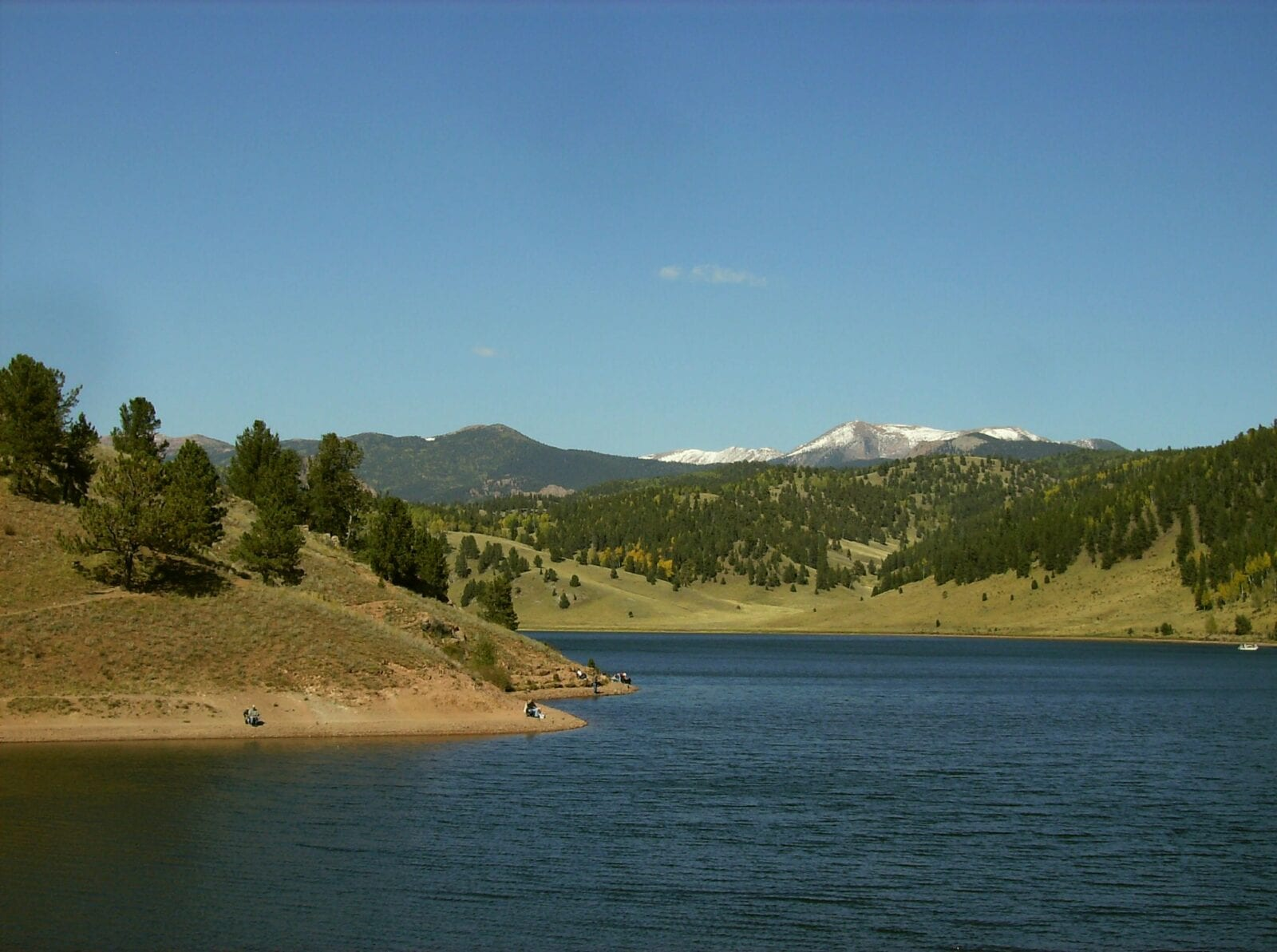 Image of the Skaguay Reservoir, south of Victor, Colorado