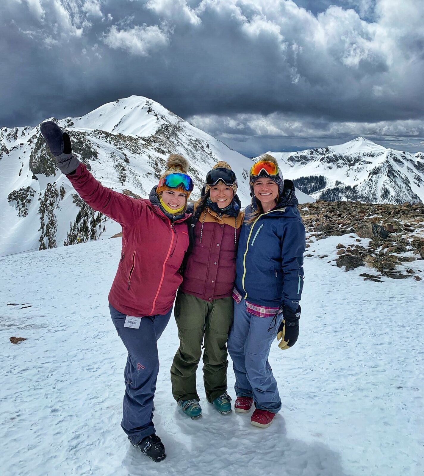 Image of Chereen and friends in the mountains of colorado
