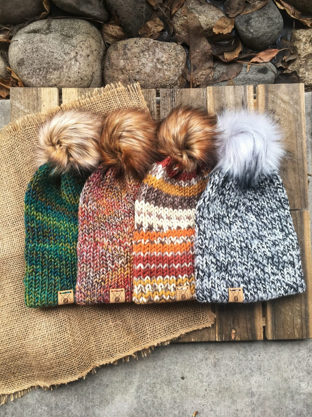 Image of some of the Smeeny Beanie hats