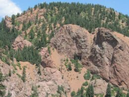 Image of the South Cheyenne Canyon from the Seven Falls in Colorado Springs
