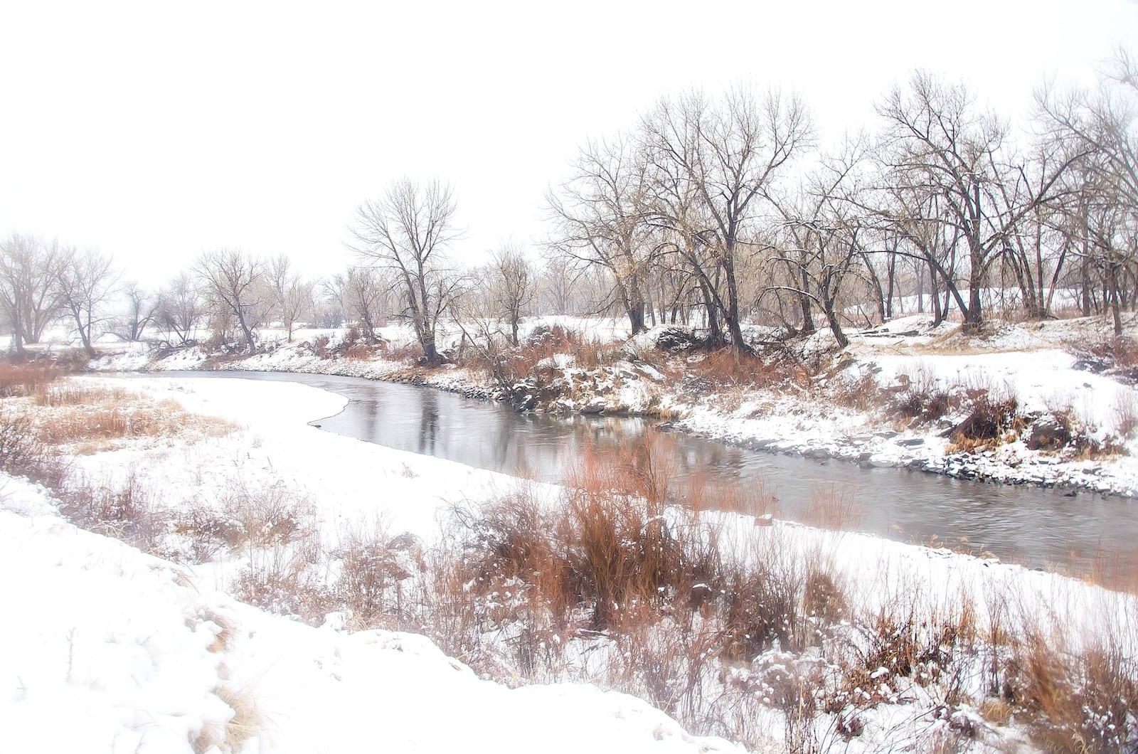 South Platte River Littleton CO Winter