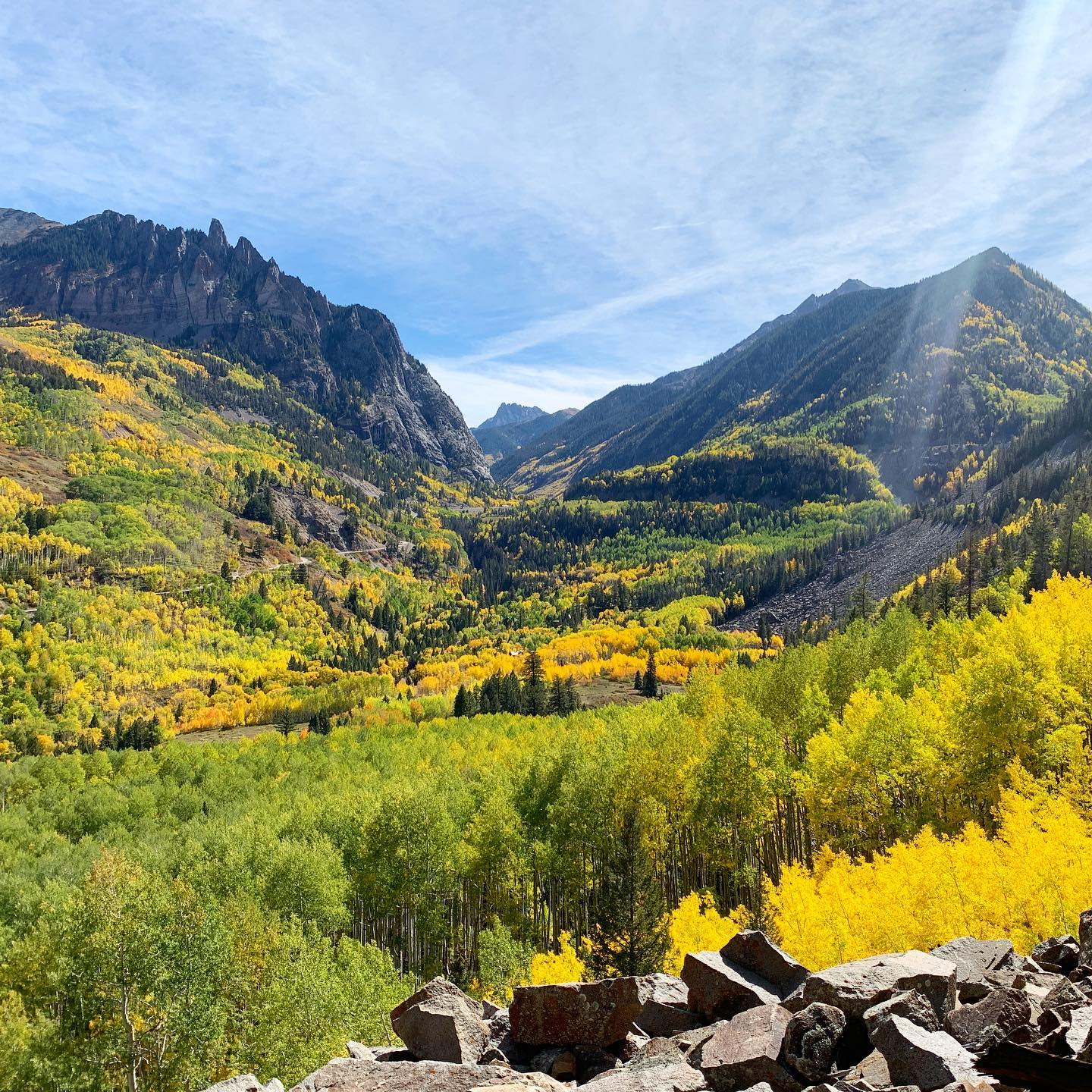 image of telluride in the fall