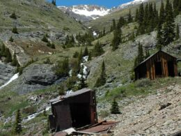 Image of abandoned buildings in tomboy, colorado