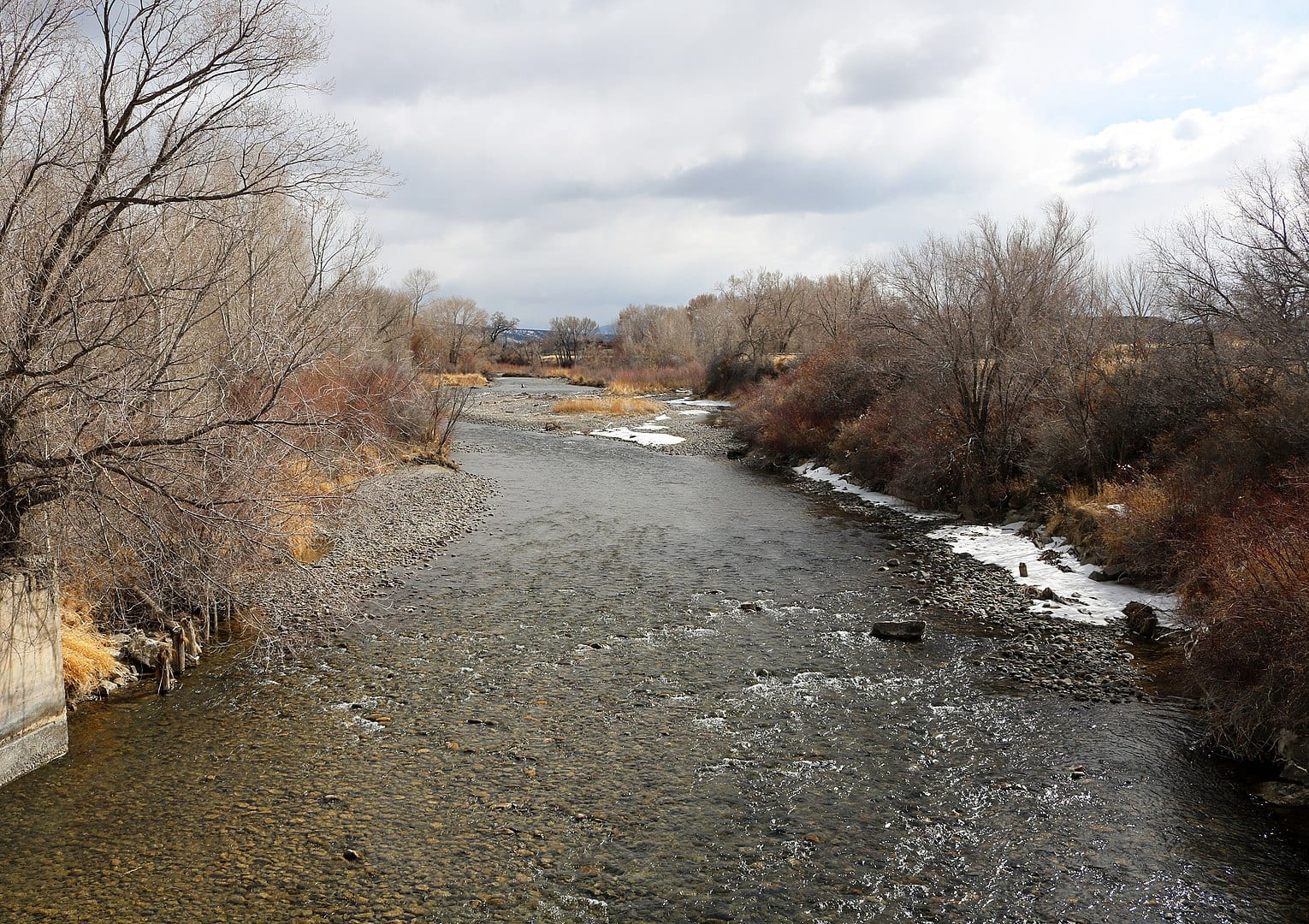 Image of the Uncompaghre River in Colorado during winter