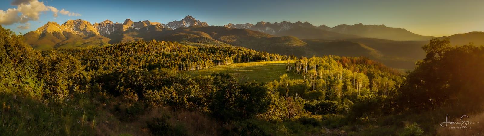 Panorama Pegunungan Sneffels Hutan Nasional Uncompahgre