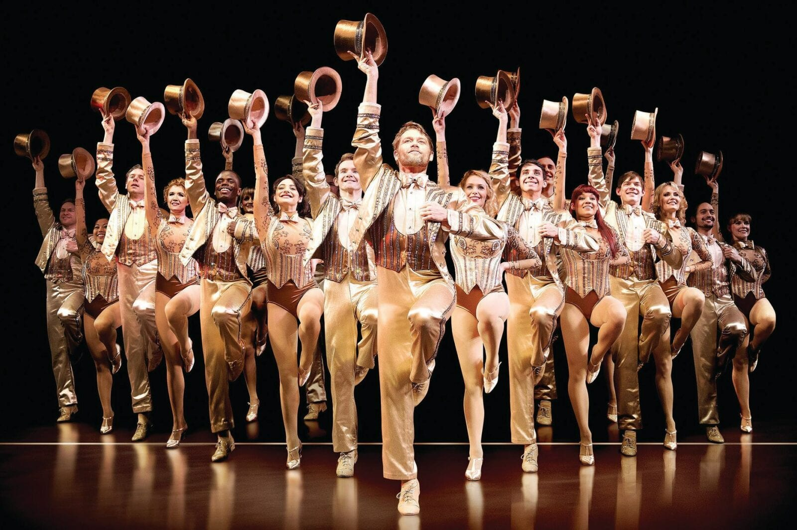 """Image of the promotion for """"A Chorus Line"""" at Union Colony Civic Center in Greeley, Colorado"""