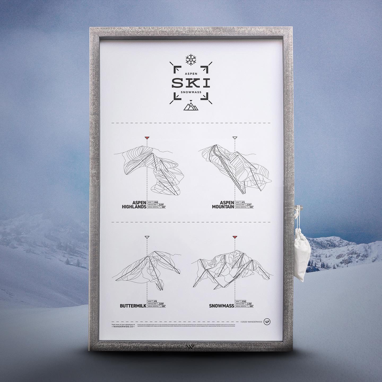Image of the WANDERWIDE ski print