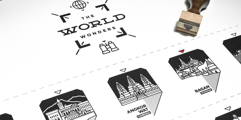 "Imade of the WANDERWIDE ""World Wonders"" print"