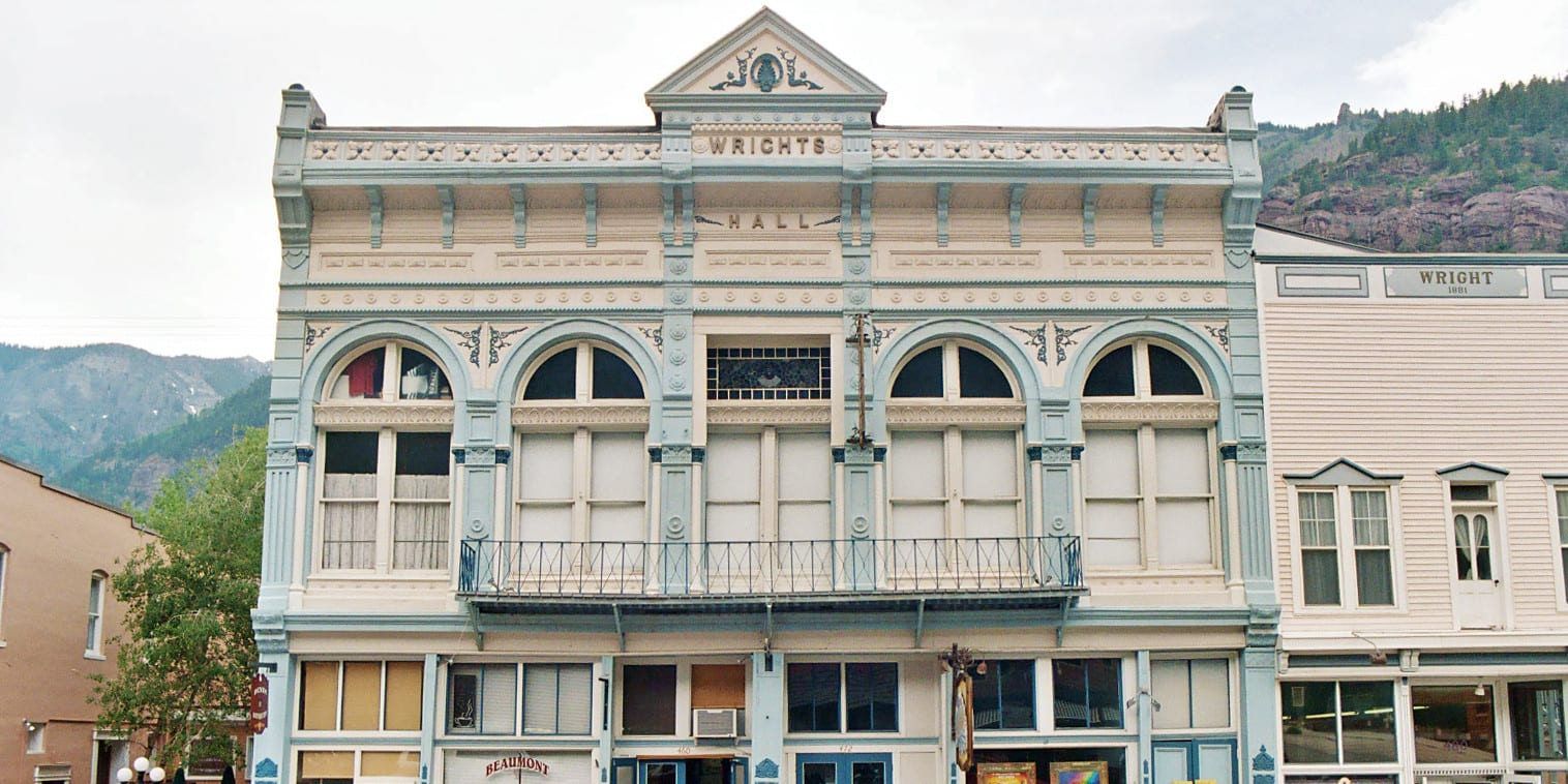 Image of the entrance to the Wright's Opera House in Ouray, Colorado
