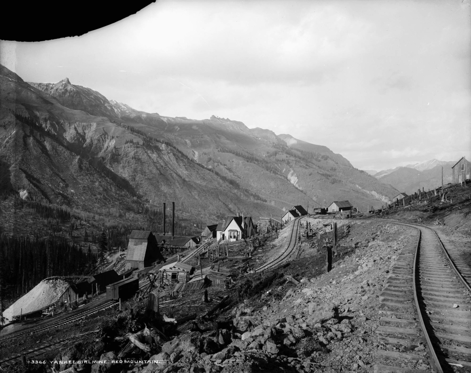 Image of the Red Mountain Pass c. 1889 near Guston, Colorado