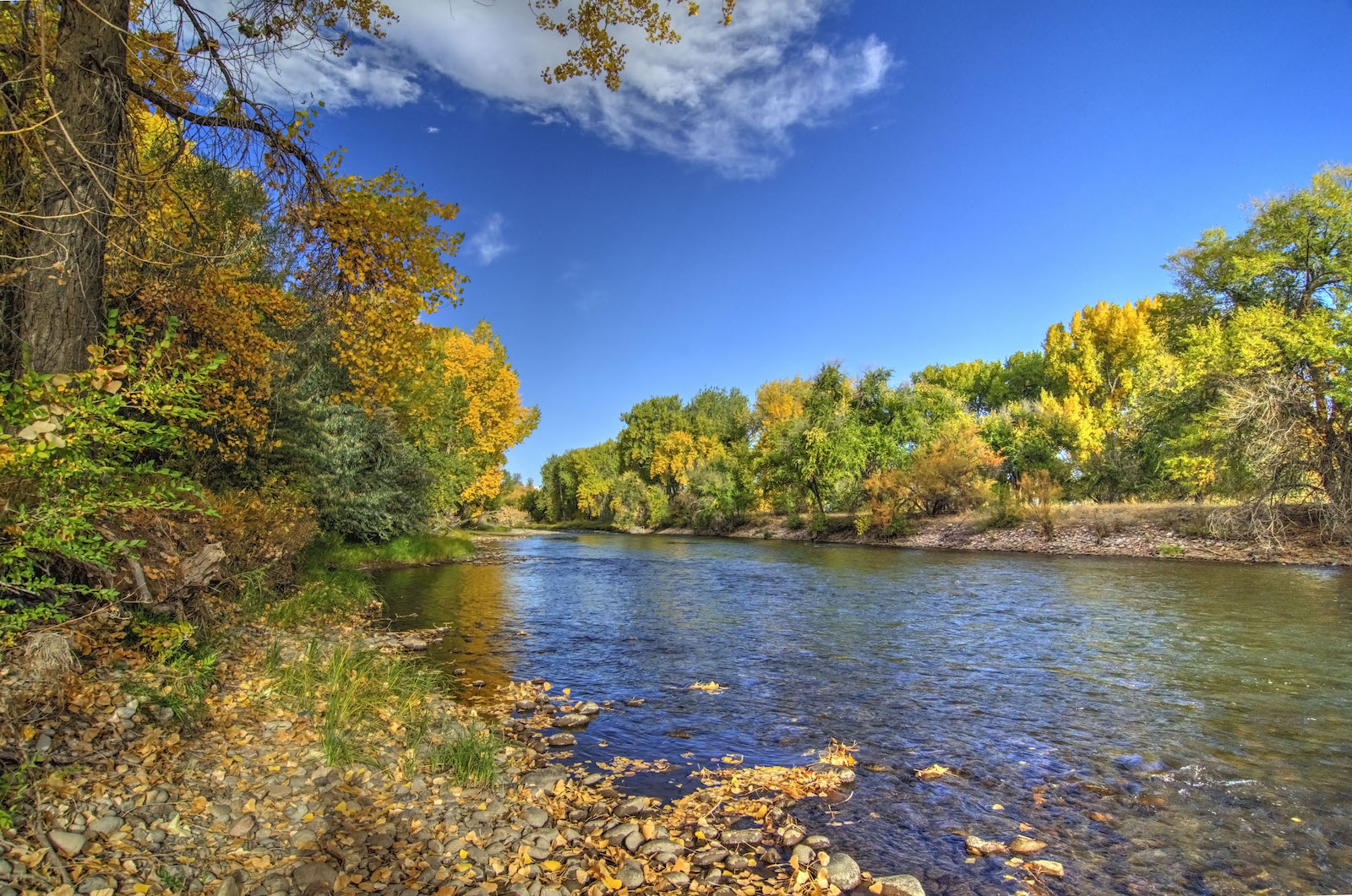 Sungai Arkansas di Cañon City, Colorado