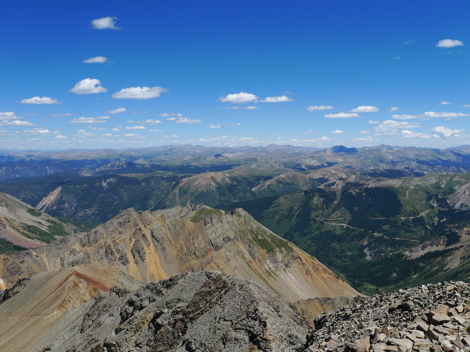 From a hike up Castle and Conundrum Peaks, CO