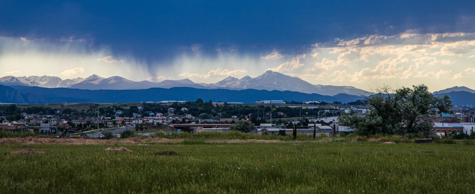 Image of the Front Range from the Hyland Ponds Open Space in Westminster, Colorado