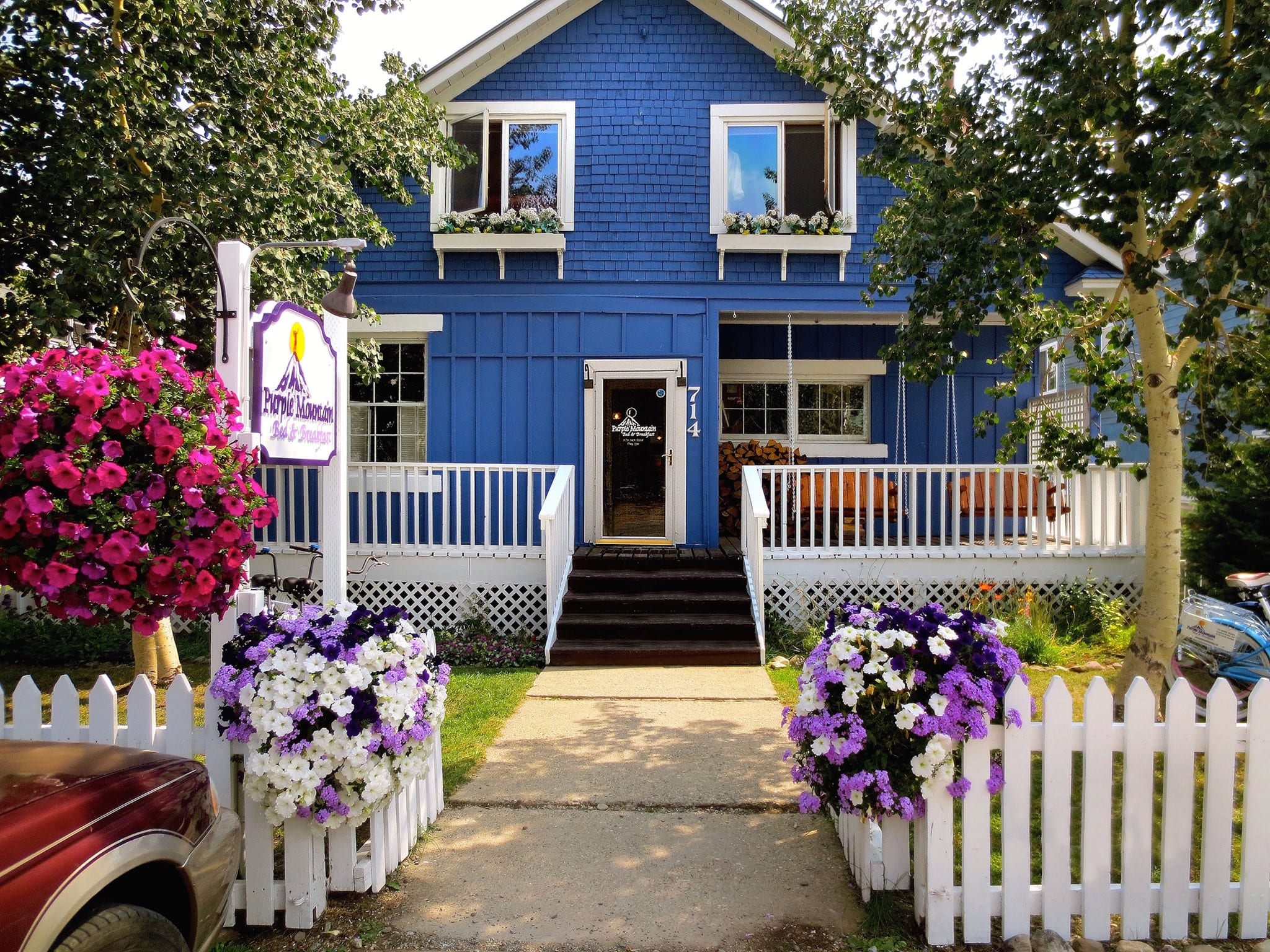 image of purple mountain bed and breakfast