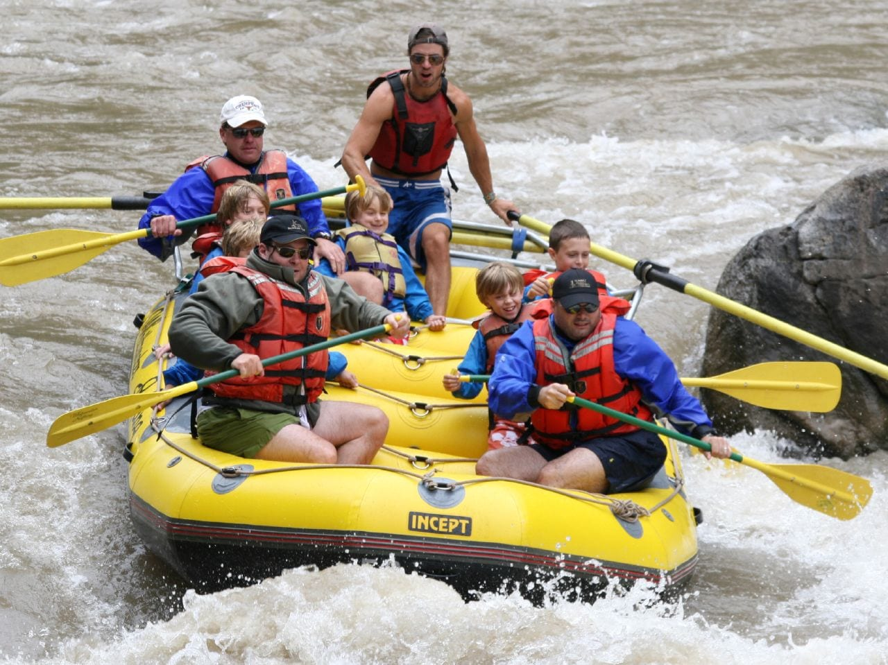 Whitewater rafting, CO