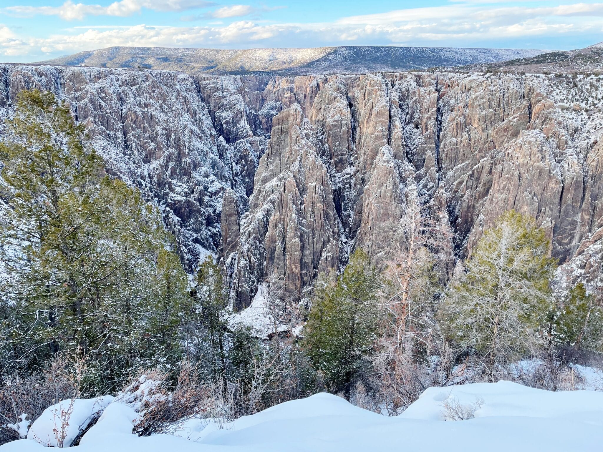 image of the black canyon in the winter
