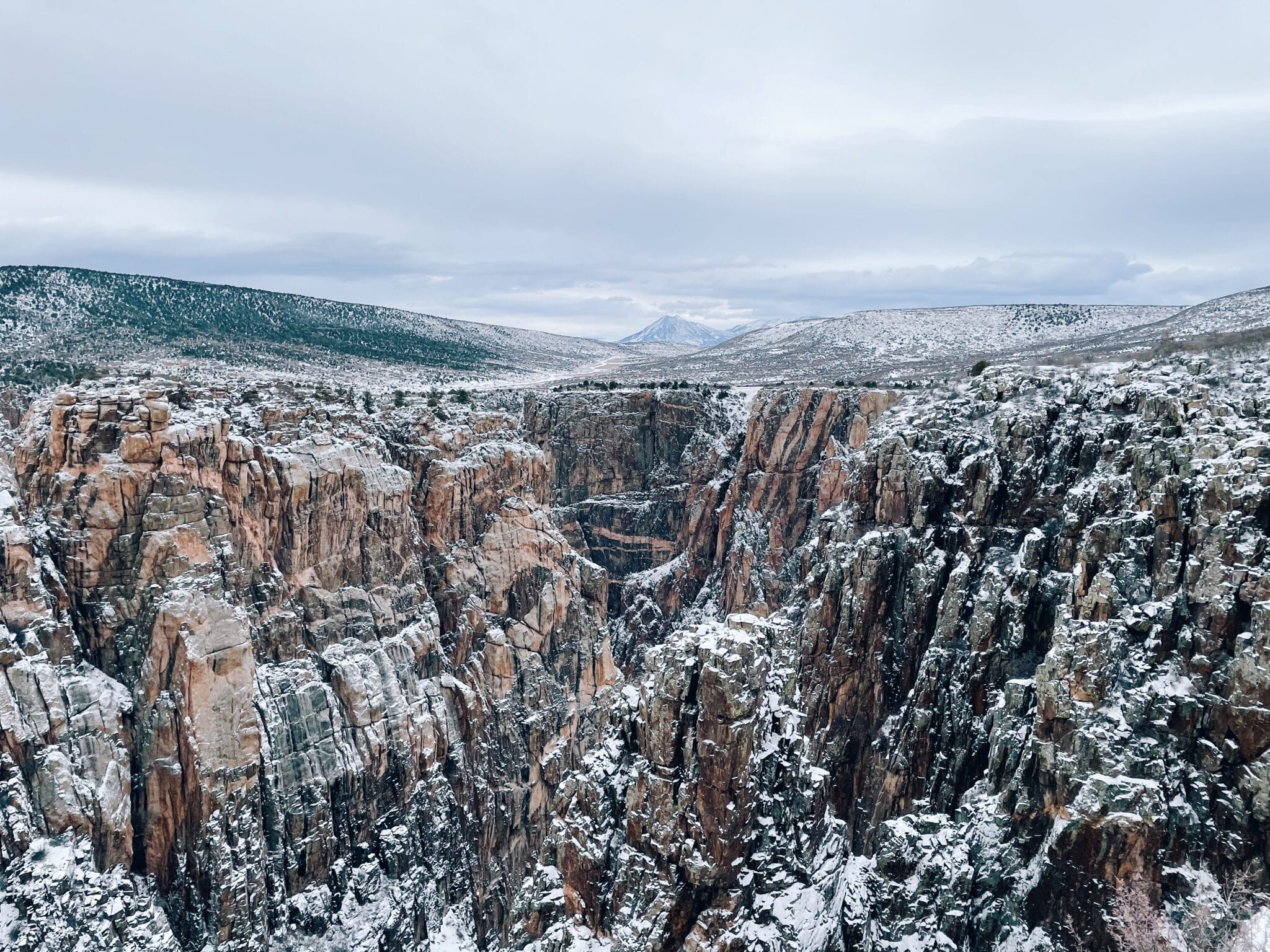 image of black canyon in the winter