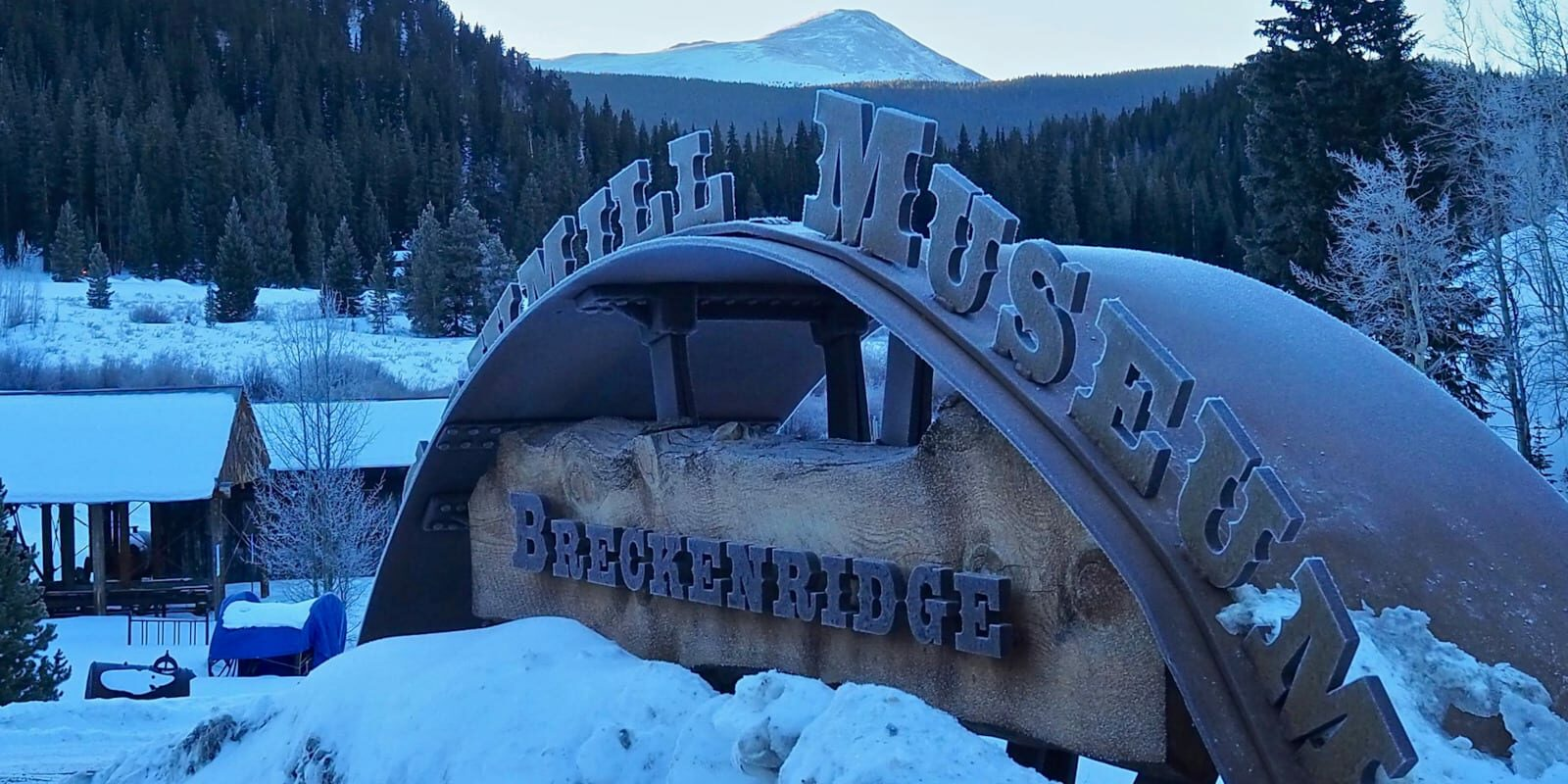 Image of the sign for the Breckenridge Sawmill Museum in Colorado