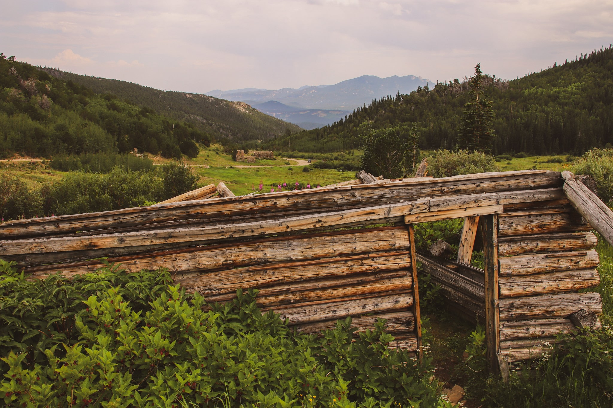 image of caribou ghost town