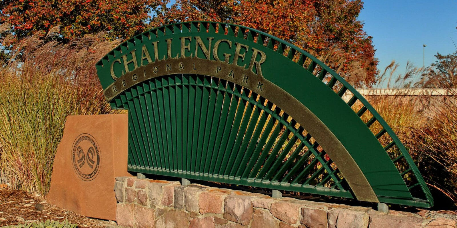 Image of the sign for the Challenger Regional Park in Parker, Colorado