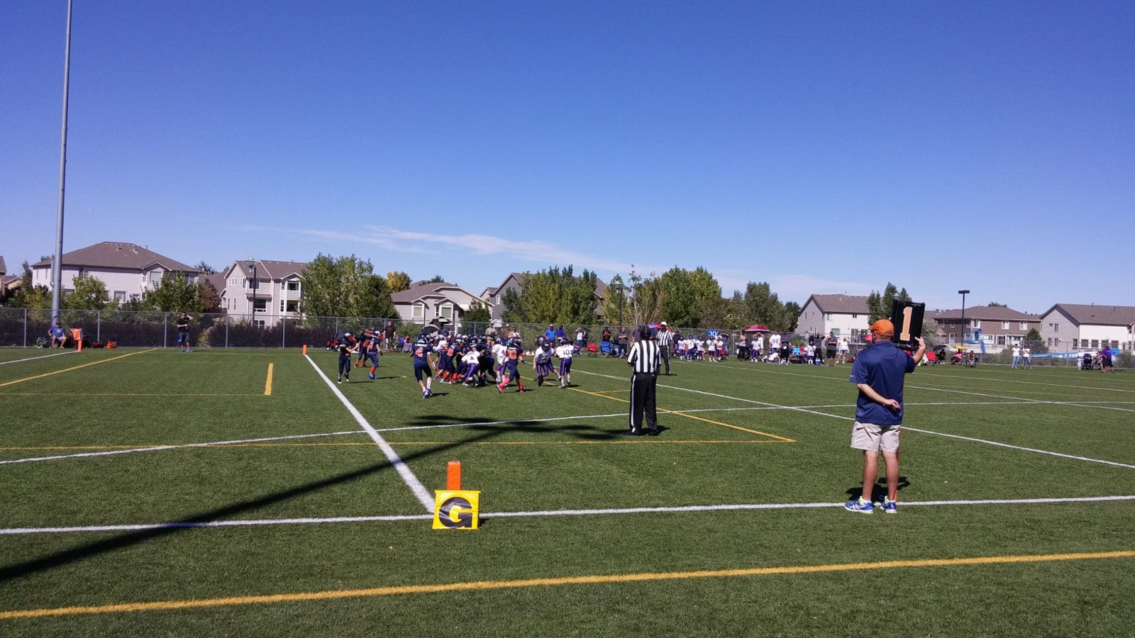 Image of a football game at the Challenger Regional Park in Parker, Colorado