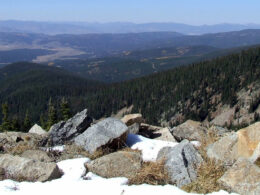 Image looking out from the Rollins Pass in Colorado