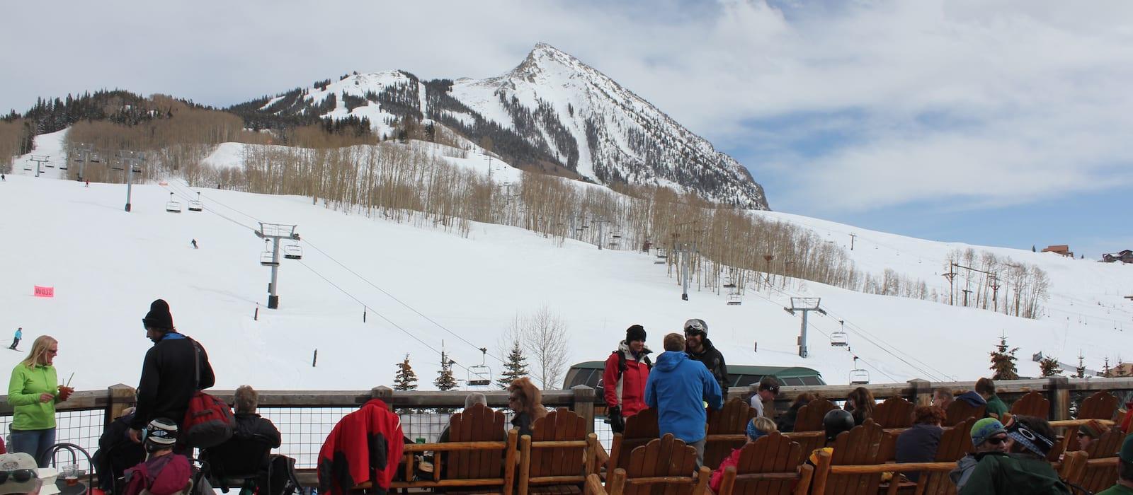 Crested Butte Ski Resort from Base Village
