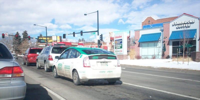 Denver Metro Taxi Green Prius