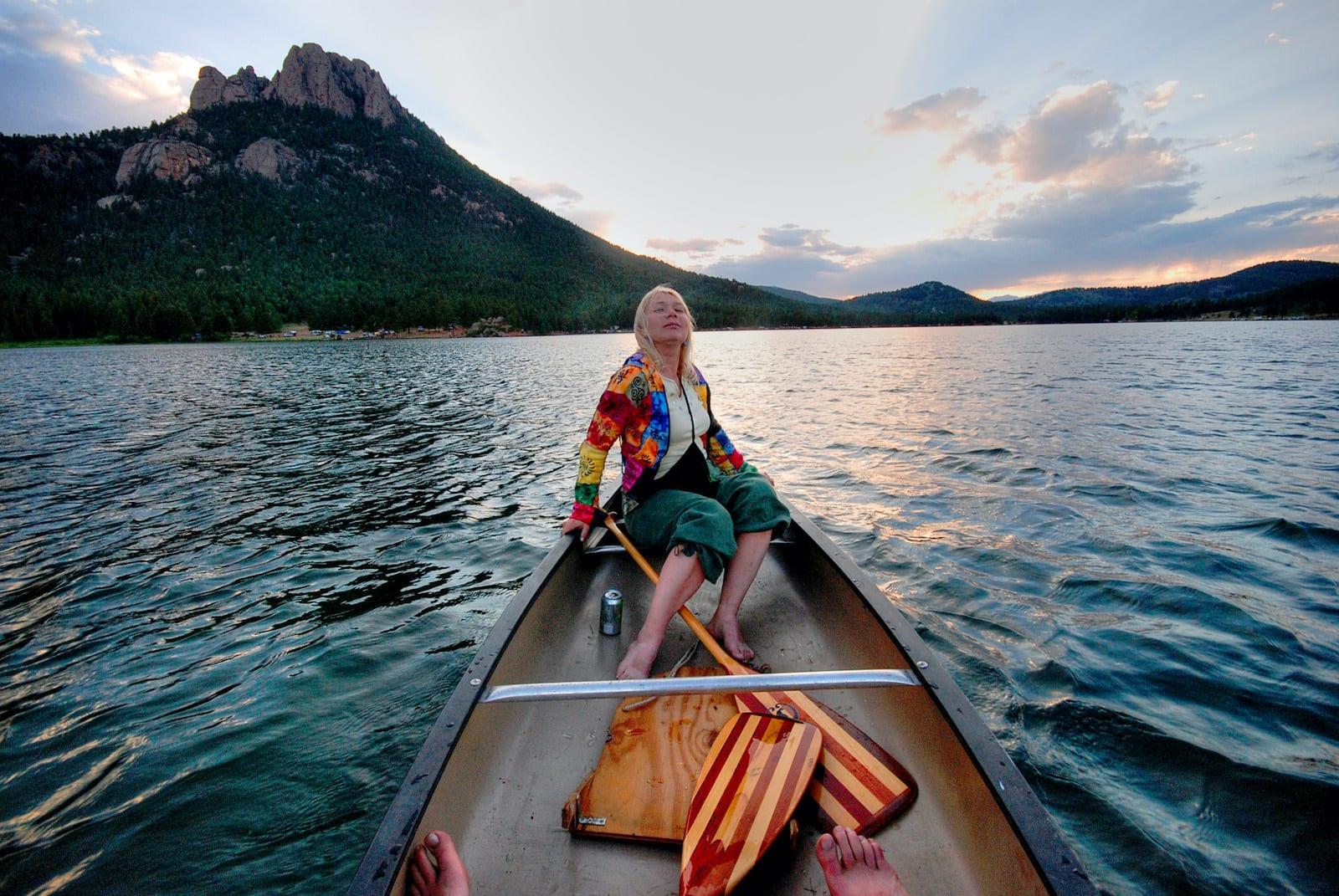Fishing Boat Wellington Lake Sunset Colorado