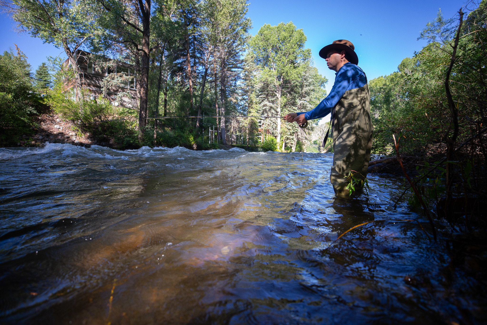 image of fishing on roaring fork river