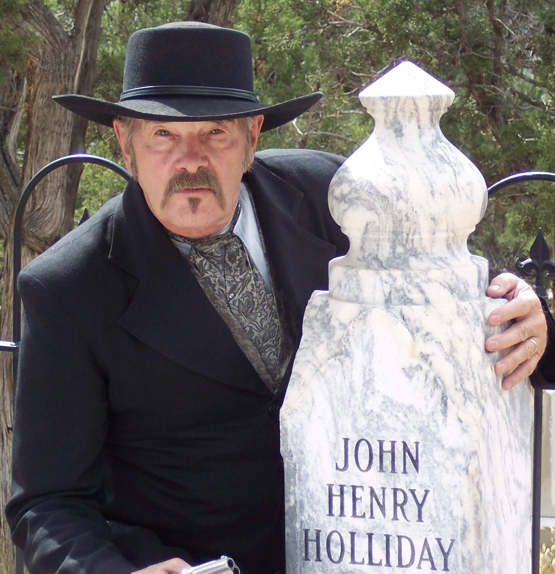 Image of an actor at Image of the entrance to the Glenwood Springs Historical Society and Frontier Museum's ghost walk in Colorado