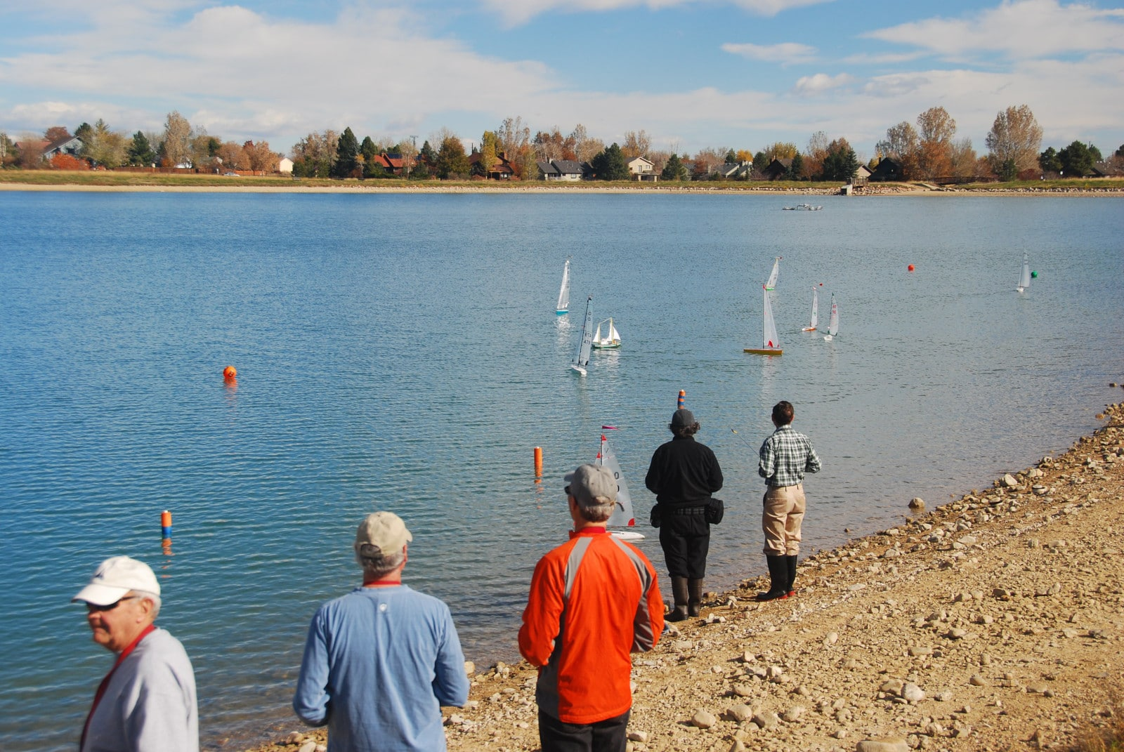 Image of the model yacht club at Harper Lake in Louisville, Colorado